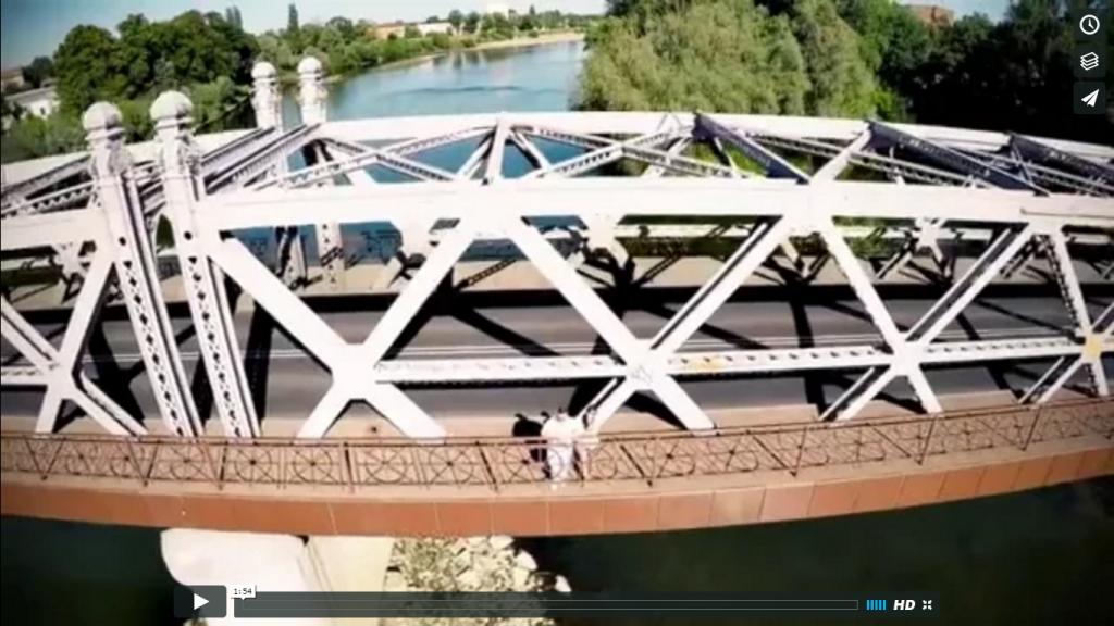 Wesele z Dronem – most i przystań MARINA w Brzegu