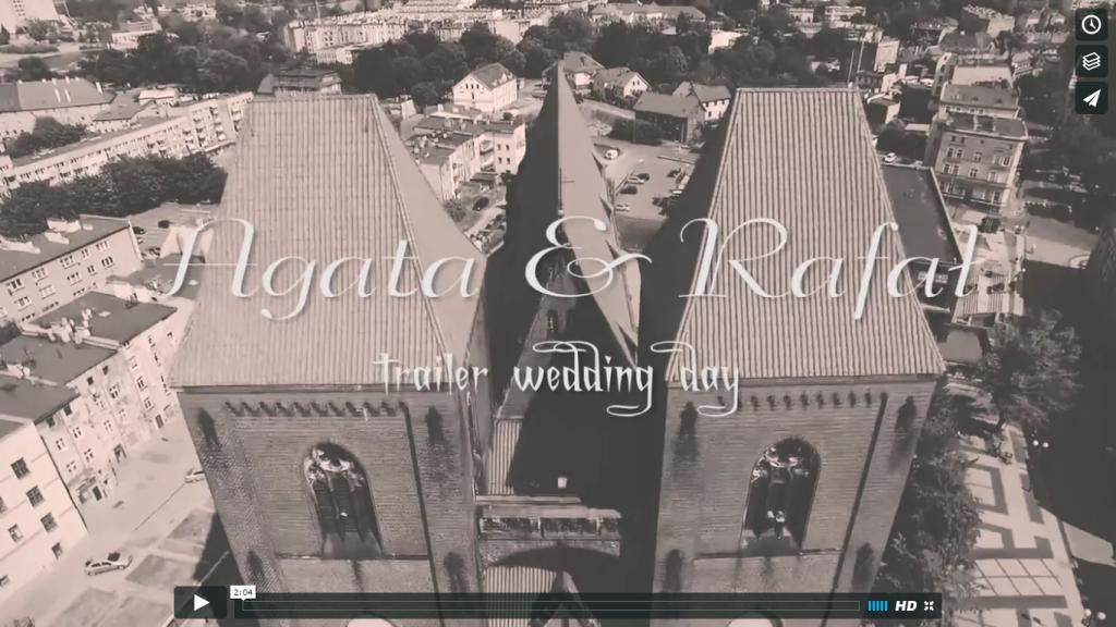 Trailer wesela Agata & Rafał – lipiec 2016