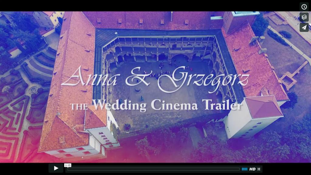 Trailer wesela Anna i Grzegorz – 20 sierpnia 2016